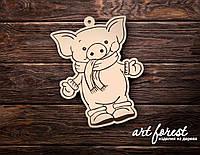 Новогодние елочные игрушки из фанеры 2020  (свинка) #82