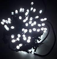 Уличная Светодиодная Гирлянда Нить на Черном Проводе 100L Х / Б с Мерцанием, фото 1