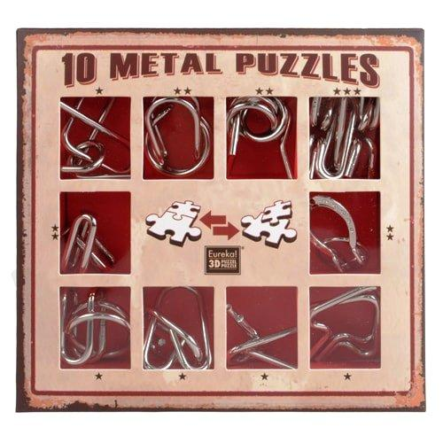 Набір головоломок 10 Metall Puzzles Red Eureka 3D Puzzle