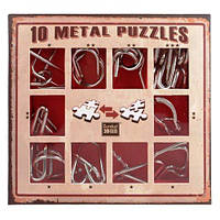 Набор головоломок 10 Metall Puzzles Red Eureka 3D Puzzle, фото 1