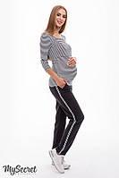 Модные брючки для беременных DOMINICA, антрацит, фото 1
