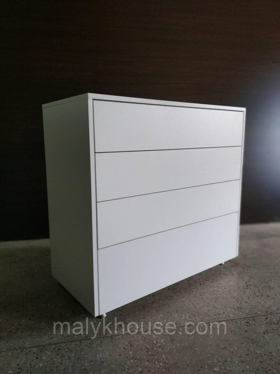 Комод Белое дерево без ручек Push to Open