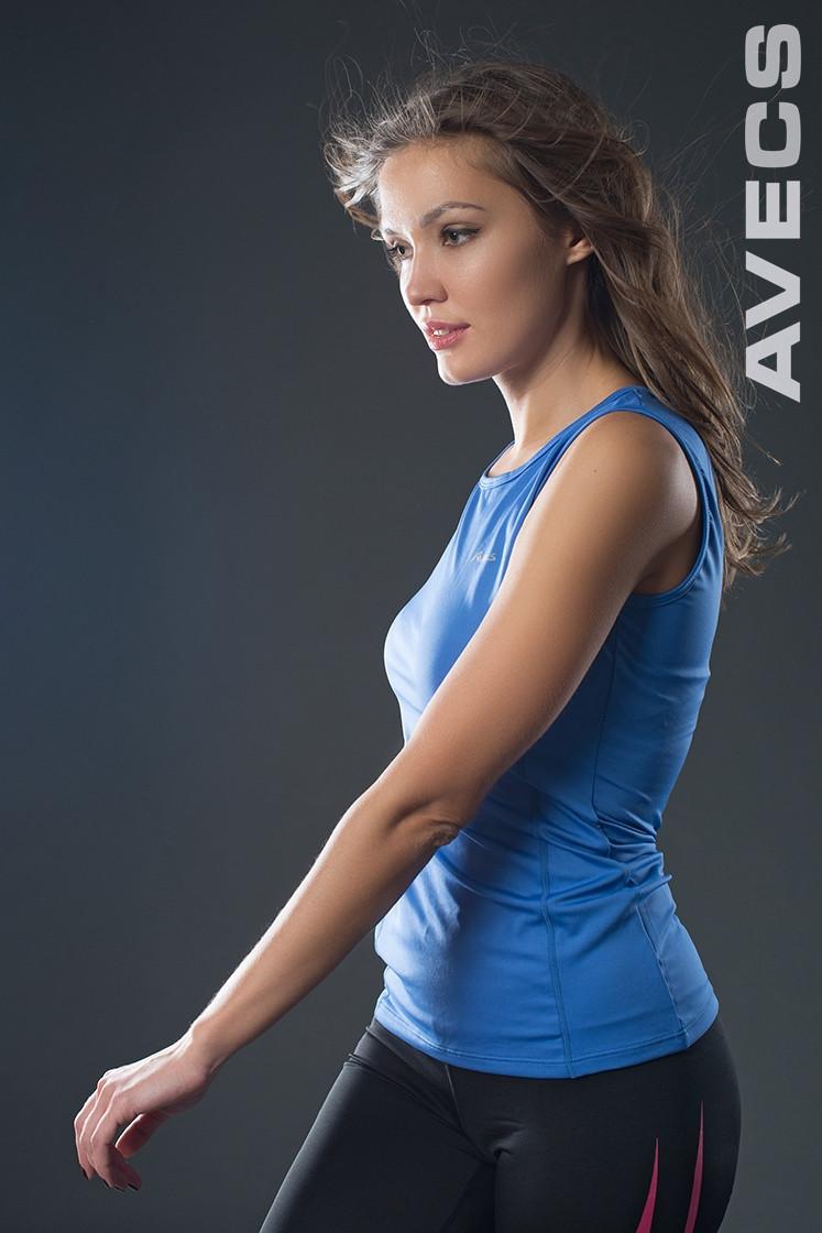 Спортивная майка женская распродажа 30114-AV голубой