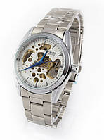 Механические часы Слава Созвездие GA07193 серебристые с автоподзаводом скелетон