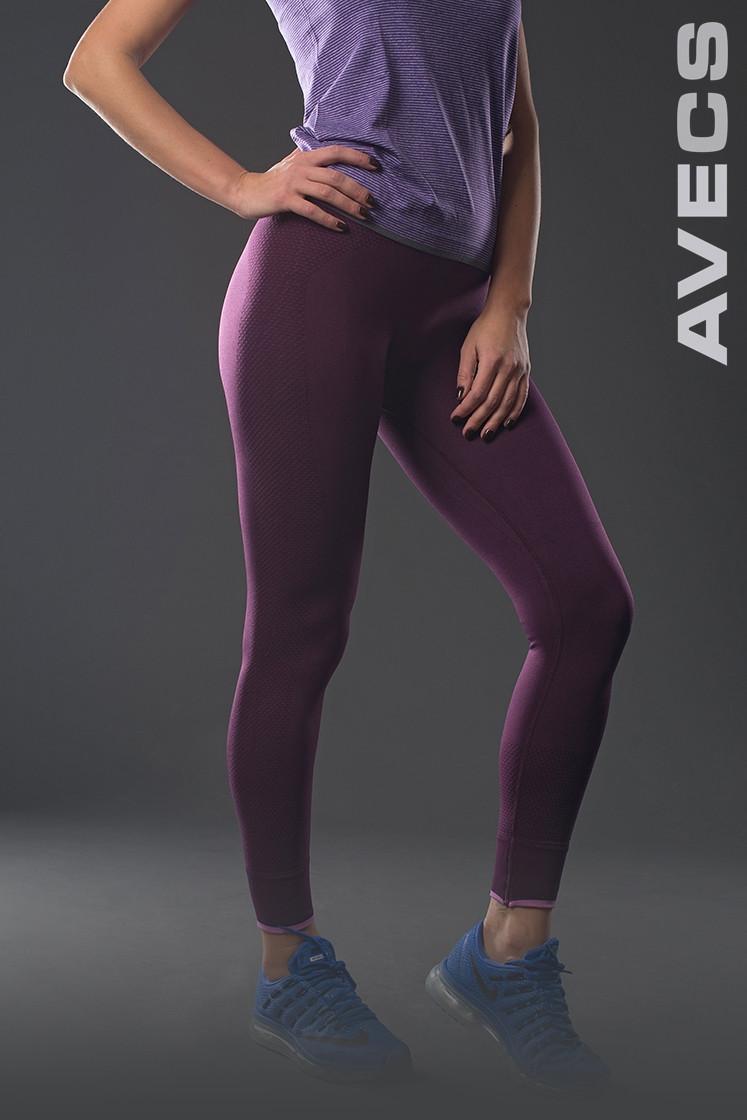 Спортивные леггинсы женские распродажа AV-30173 сиреневый