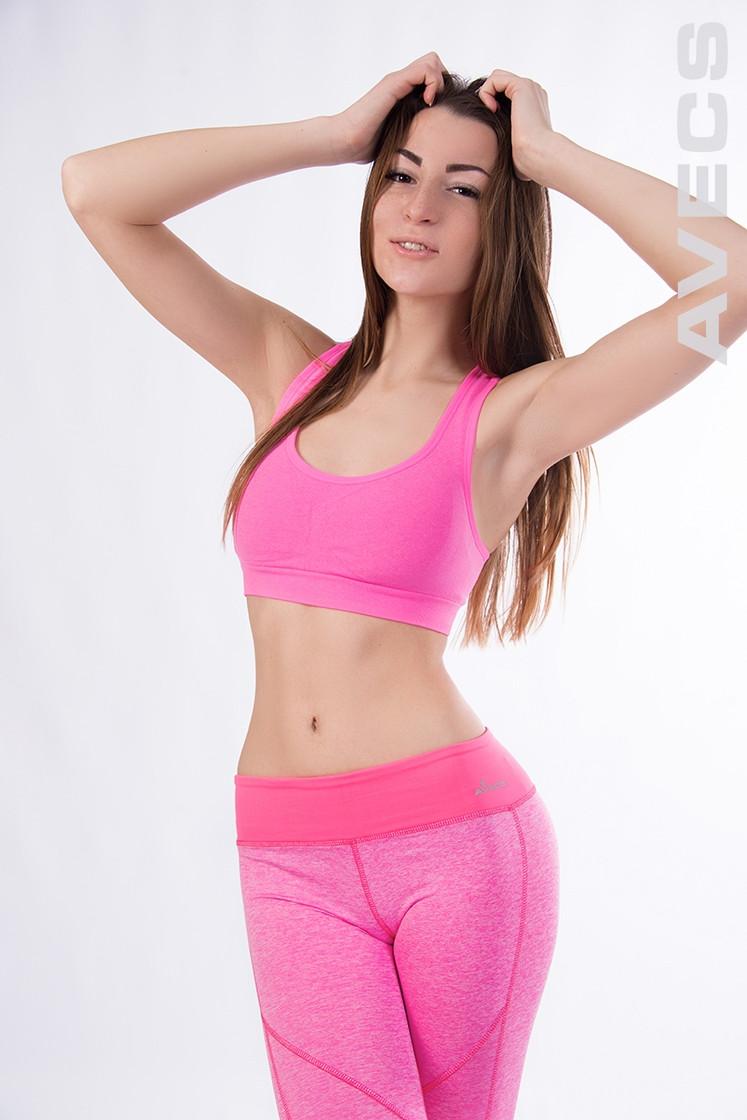 Топ спортивный распродажа  AV-30167 розовый