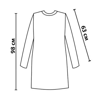 Размерная сетка на вязанное платье