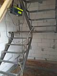 Лестницы. Каркас лестницы с площадкой и  поворотом 180*, фото 4
