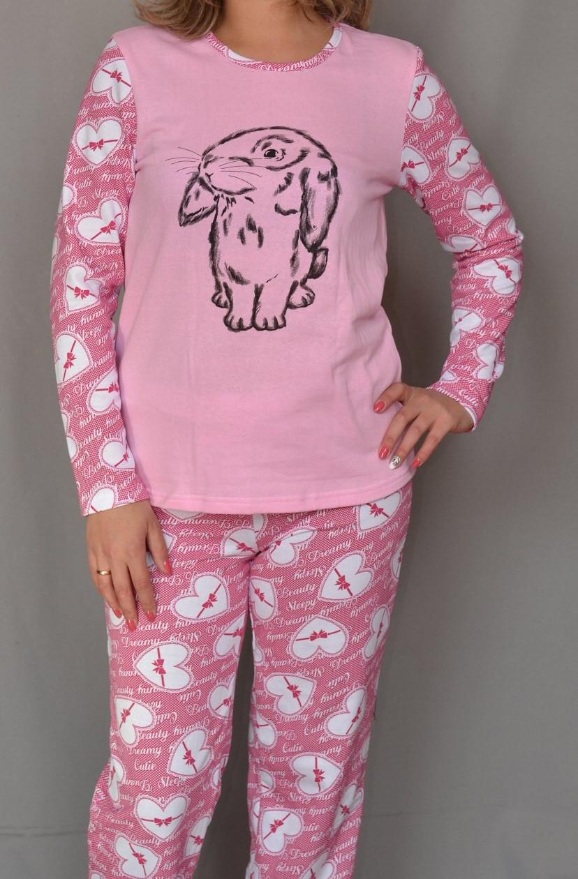 7230a62ea169aa2 Теплая пижама с начесом женская зимняя хлопковая комплект домашний кофта и  штаны Украина