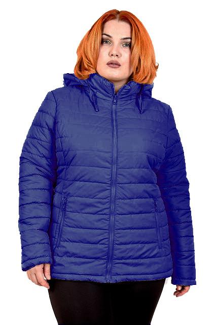 Куртка Дина 54-70 осень волна