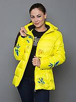 Зимняя куртка пуховик женская Avecs 0348 желтый XL