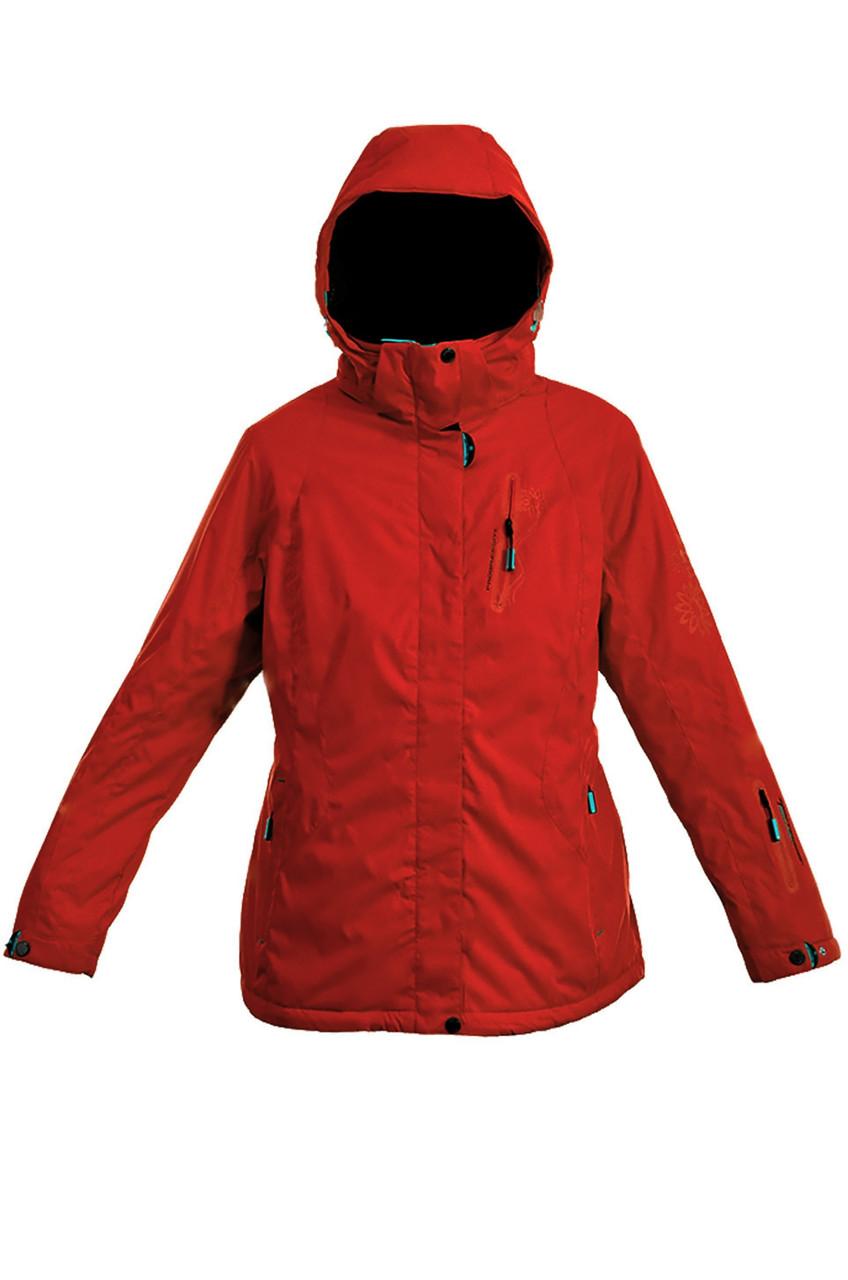 Куртка лыжная женская  распродажа батал Avecs красный 52