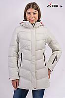 Зимняя куртка женская Avecs 7749811 белый 50 (XL)