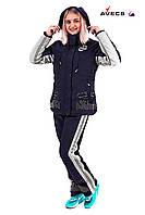 Горнолыжный костюм женский Avecs 0391 темно-синий 50
