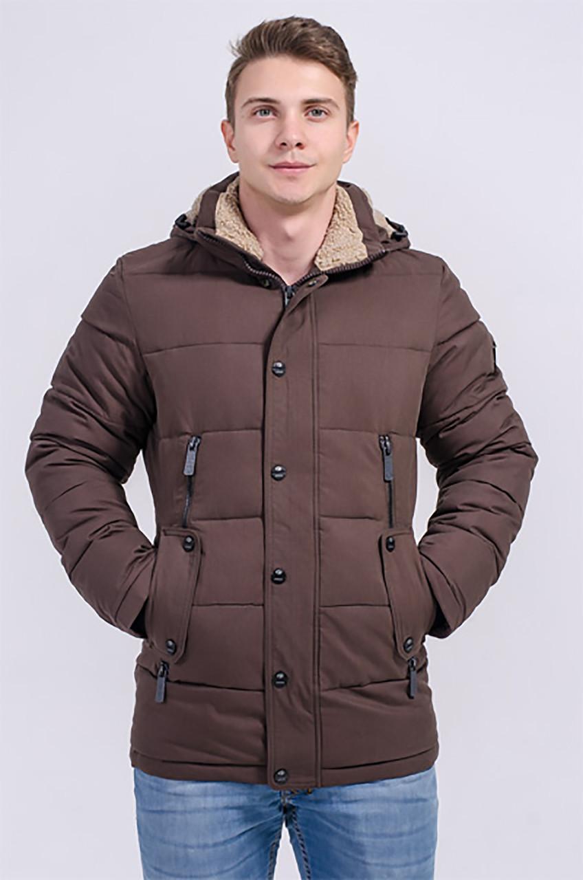 Зимняя куртка мужская Avecs 963 коричневый