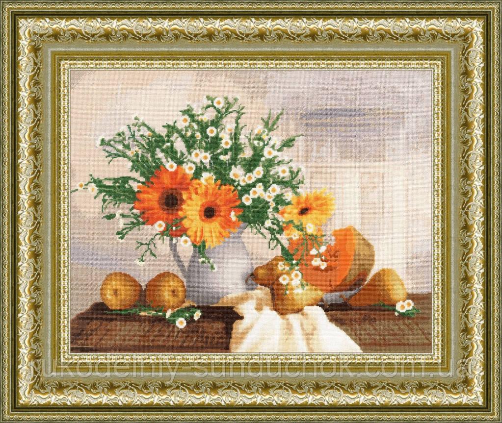 """Набор для вышивания крестом ТМ Золотое Руно """"Оранжевый натюрморт. Стиль жизни """" СЖ-029"""