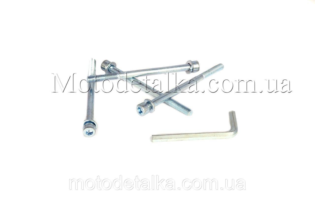 Шпильки цилиндра (4шт) Honda DIO (+ключ шестигранник) AS