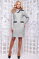 Тепле елегантне плаття зі змійкою на комірі 50-54р
