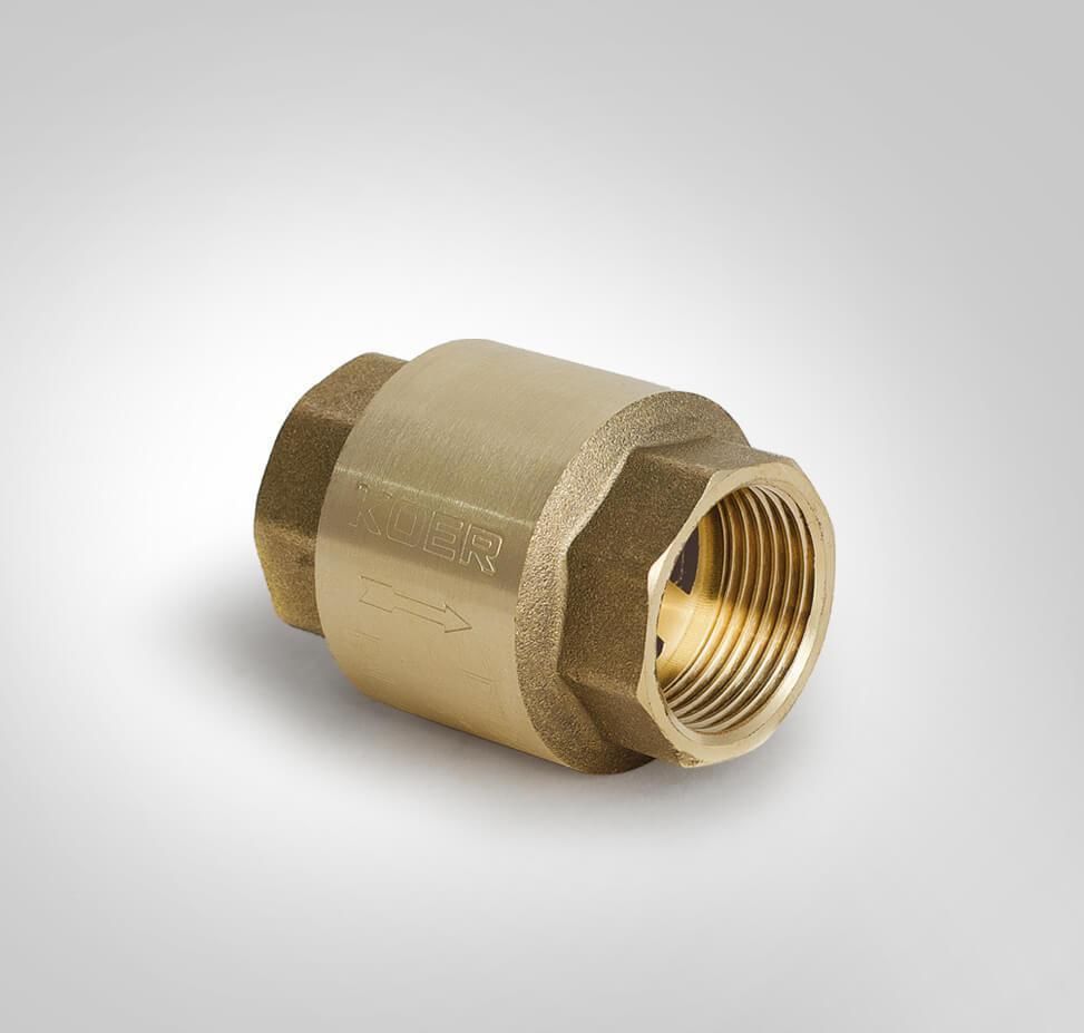 Обратный клапан латунный усиленный KOER KR.171 1 1/2