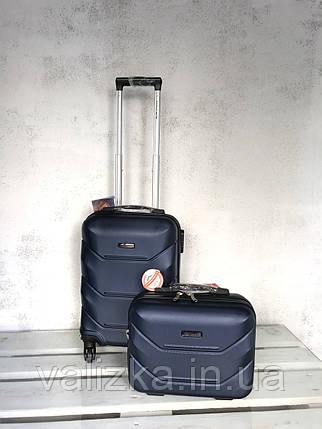Валізу з полікарбонату на колесах малий для ручної поклажі синю валізу Польща / Валіза з полікарбонату, фото 2