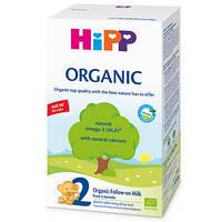 Органическая детская сухая молочная смесь HiPP Organic 2 для дальнейшего кормления 300 гр.