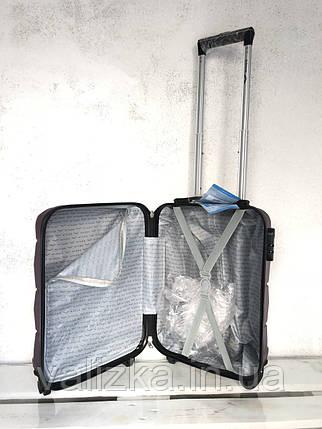 Чемодан из поликарбоната на колесах малый для ручной клади S шампань Польша / Валіза з полікарбонату, фото 2
