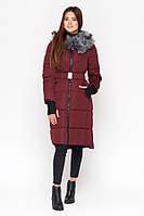 Куртка женская зимняя  с капюшоном | Bordo