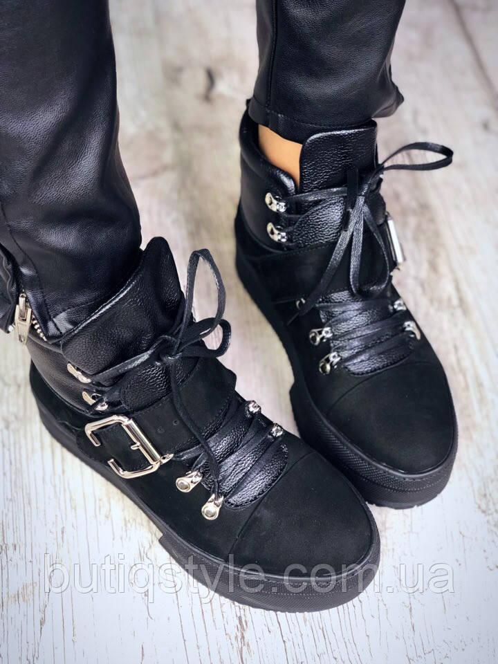 36 размер! Зимние женские ботинки Jane, натуральная кожа + замш на меху