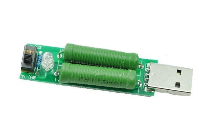 USB нагрузочный резистор, нагрузка со свичем 1А/2А