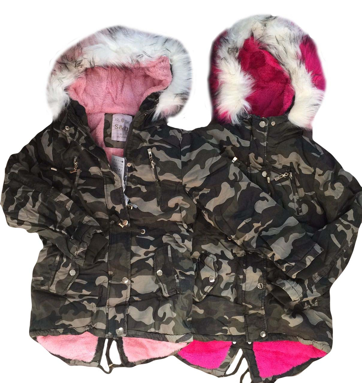 Куртки з хутром для дівчаток оптом розміри 8-16 років, S&D арт. KF 101