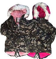 Куртки з хутром для дівчаток оптом розміри 8-16 років, S&D арт. KF 101, фото 1