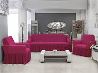 Чехол на диван и 2  кресла Соты, фуксия, фото 1