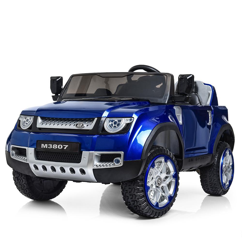 Детский электромобиль Land Rover M 3807 EBLRS-4: 4х4, 2.4G. EVA-колеса, Кожа - СИНИЙ (ПОКРАСКА) - купить оптом