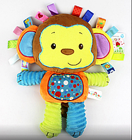 Обезъянка. Игрушка для сна и игры. Happy monkey
