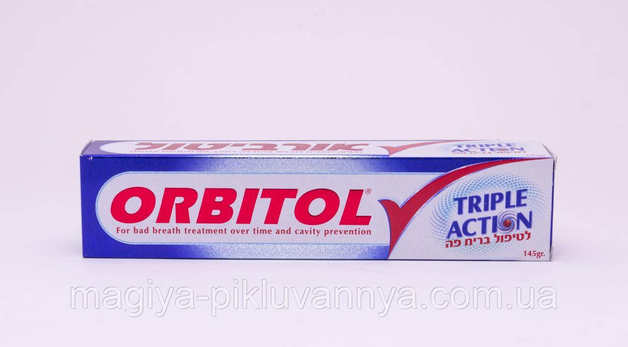 Зубная паста Orbitol Triple Action, 145 г, 268822
