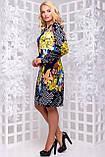 Яркое трикотажное платье с цветочным принтом  50-56р, фото 2