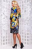 Яркое трикотажное платье с цветочным принтом  50-56р, фото 3