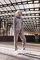 Женский стильный модный вязаный спортивный костюм