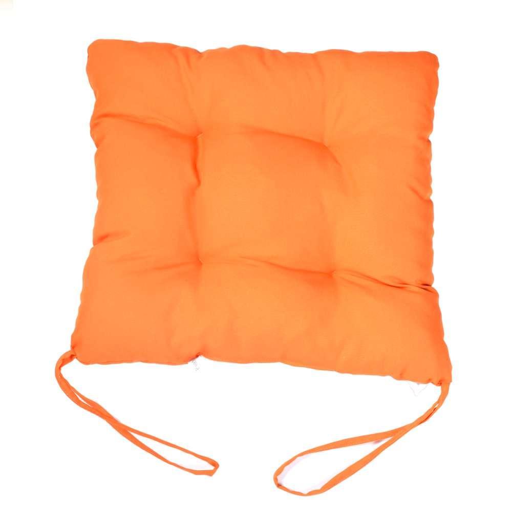 """Мягкая подушечка на стул """"Оранжевая"""""""