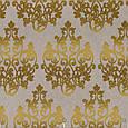 Ткань для штор с золотым вензелем на бежевом фоне , фото 2