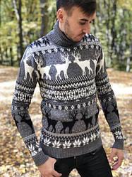 Мужские и женские свитера и гольфы с оленями