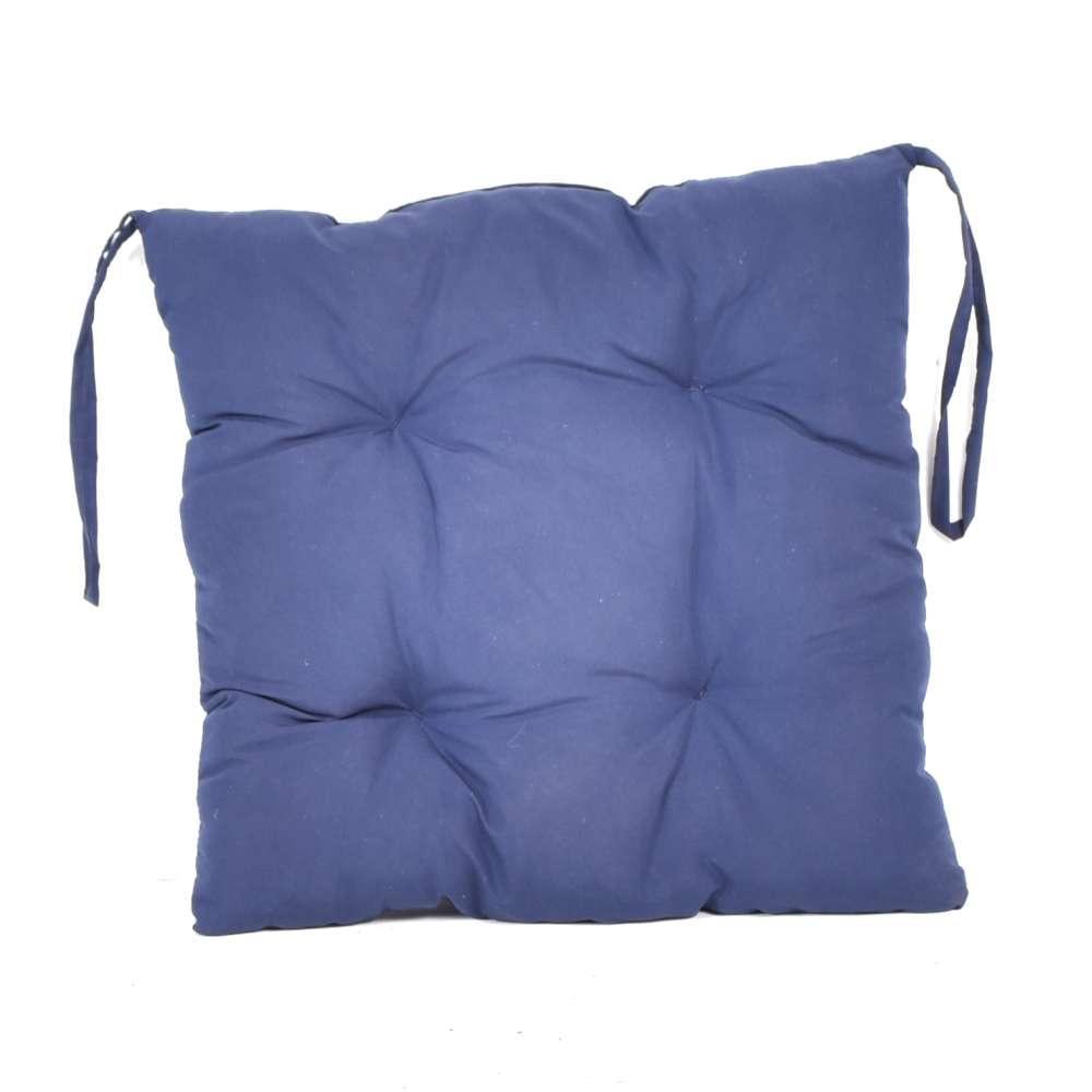 """Мягкая подушечка на стул """"Синяя"""""""