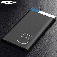 ROCK Odin 5000 mAh Power Bank black - покорми свой iphone X Samsung Note 8 S8, фото 1