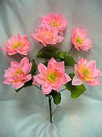 Букет лотос (20 шт в уп) искусственные цветы  , фото 1
