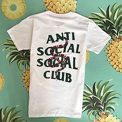 Anti Social Social Club/ Gucci. Белая мужская футболка с бирками.