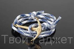 ОПТ/Розница Браслет мужской из шнура с якорем (Цена за 1 шт)