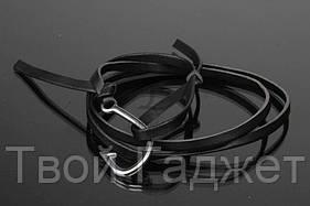 ОПТ/Розница Браслет мужской черный с крючком (Цена за 1 шт)