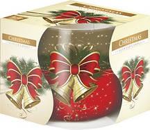Свеча ароматическая в стекле Bispol Рождество 7 см (sn71s-02)