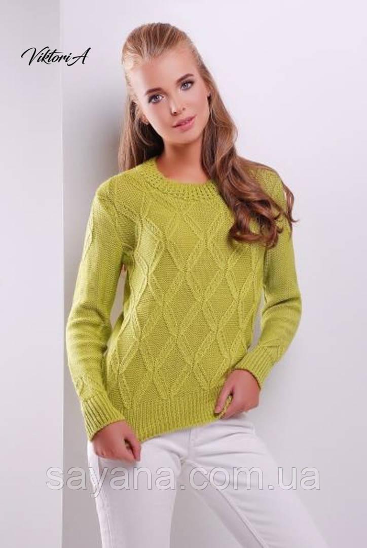 Женский свитер фактурной вязки в расцветках. ВИ-3-1018 (17)