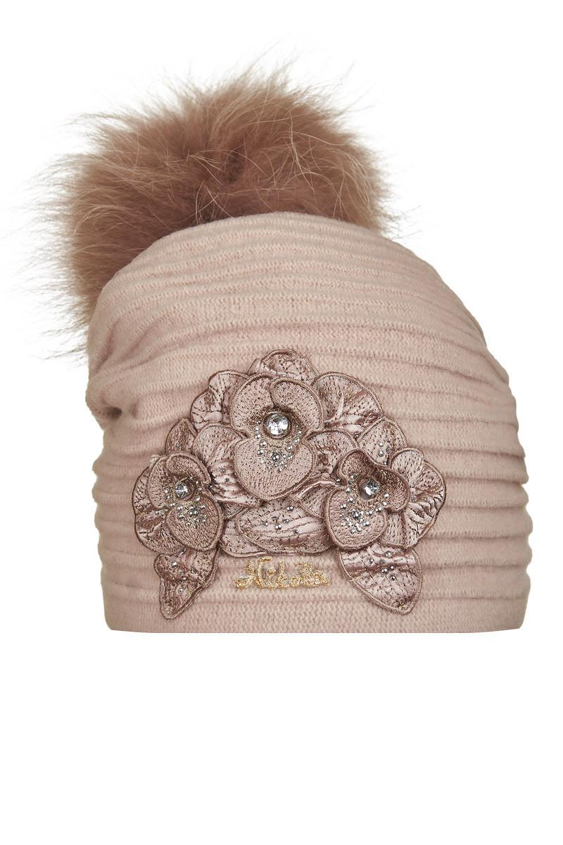 Шерстяная шапочка для девочки Франка